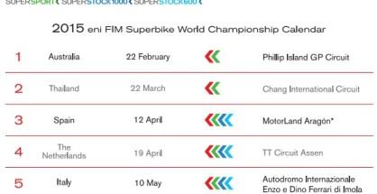 calendario superbike 2015